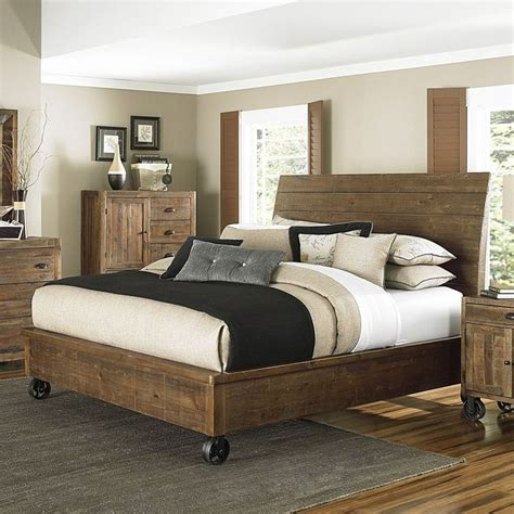 King Size Bed Frame On Wheels Best 25 Rustic Wood Bed Ideas On