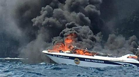 fire boat phi phi 1 dead many hurt as boat catches fire near phi phi island