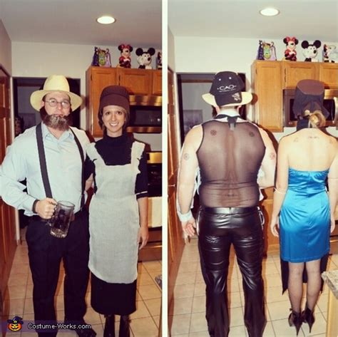 amish  wild couples halloween costume