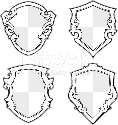 design free coat of arms coat of arms shield designs stock illustration 13166326