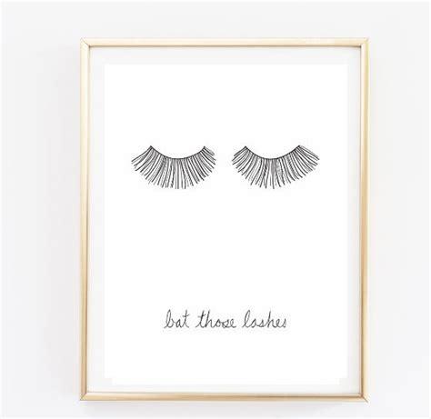 bedroom wall art tumblr bat those lashes makeup print typographic print quote art