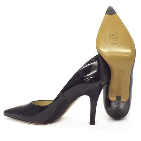 Pointy Toe High Heel Pumps dita classic pointy toe high heel pumps in black patent