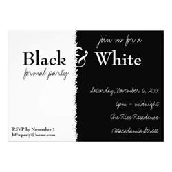 black and white theme invitation 5 quot x 7 quot invitation card zazzle