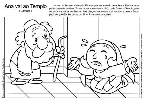 imagenes biblicas de ana y samuel desenho de ana e samuel para colorir atividades pedag 243 gicas