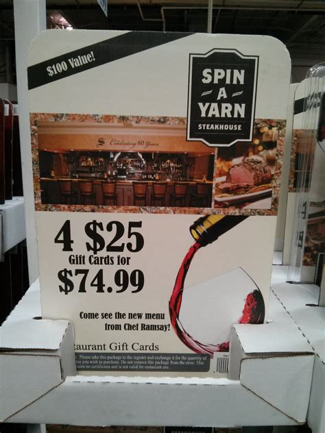 Costco Gift Cards Balance - massimo s spin a yarn steakhouse strizzi s discount gift cards