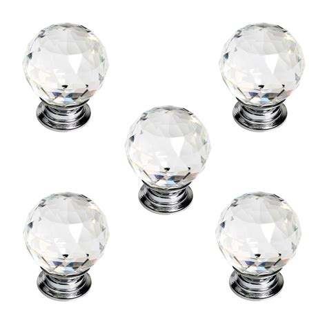 Kitchen Glass Knobs by 10x 30mm Clear Glass Door Knobs Drawer Cabinet