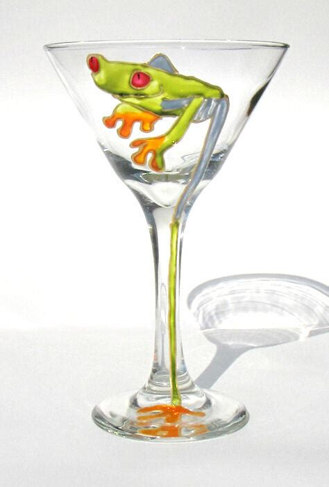 martini glass painting tree frog martini painting by pauline ross