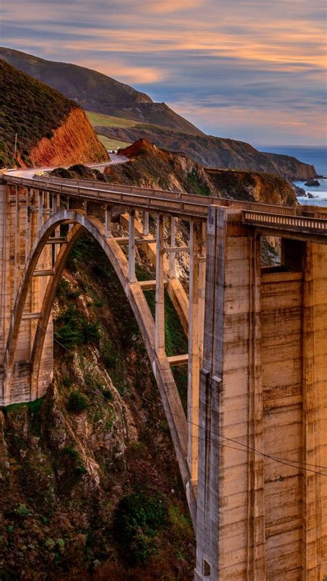 bixby creek bridge   big sur coast  california usa
