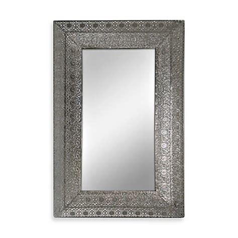 Buy Silver Nickel Metal Lace Mirror From Bed Bath Beyond Metal Bathroom Mirrors
