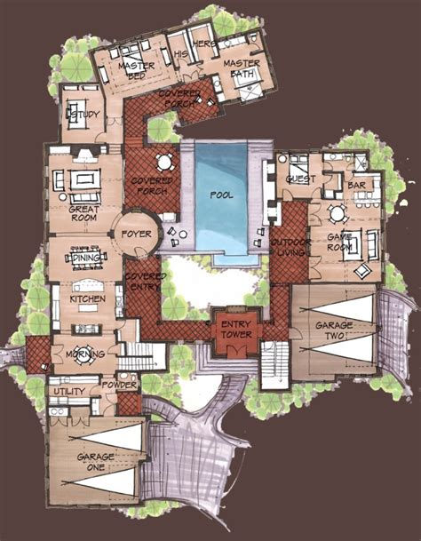 spanish style house plans with interior courtyard spanish hacienda house plans find house plans