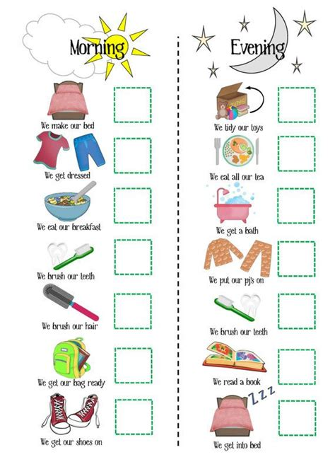 printable toddler routine chart girls routine printable sale boys routine printable