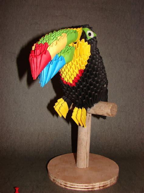 Origami Toucan - toucan album alan 3d origami