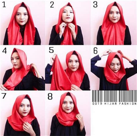 Jilbab Segi Empat Yang Panjang cara mudah pakai segi empat modern bagi pemula