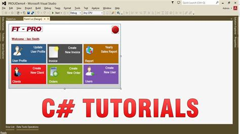 tutorial vb net windows application c tutorials create custom professional ui in winform