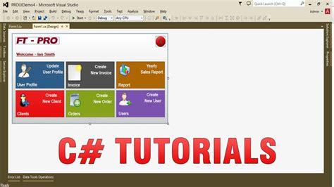 mdi form design template in c c tutorials create custom professional ui in winforms