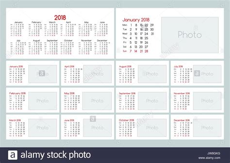 daily planner template vector calendar 2018 daily planner template stock vector art