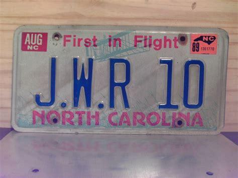 1989 carolina vanity license plate nc jwr10