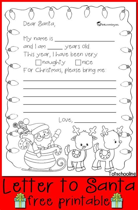 christmas letter templates for pages free letter to santa printable kids writing free