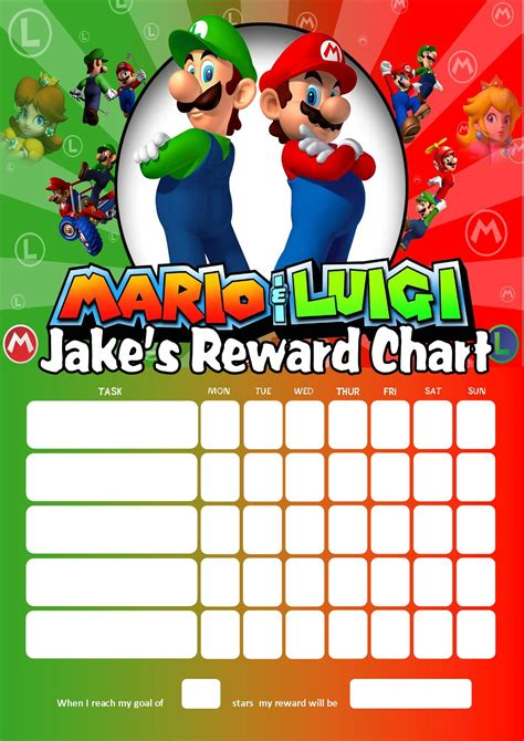 Personalised Name Wall Stickers For Kids personalised super mario and luigi reward chart adding