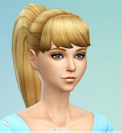 sims 4 hairs butterflysims side ponytail hair 164 sims 4 hairs simssticle larger ponytail hairstyle new mesh