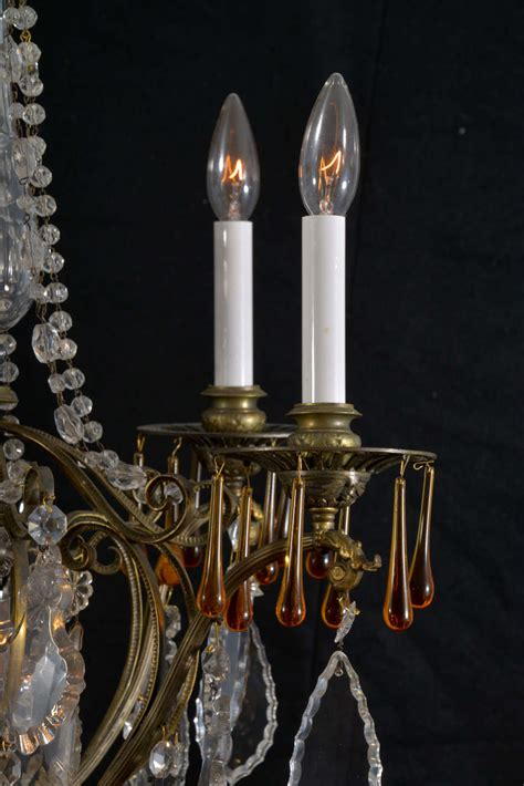Candle Light Fixture Six Light Electrified Candle Fixture For Sale At 1stdibs