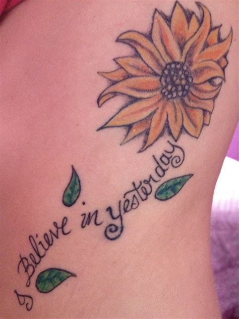 stem tattoo designs sunflower stem made from words would be to