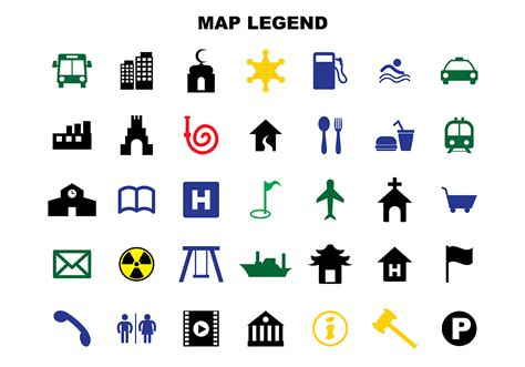 map legend free map legend vector free vector stock