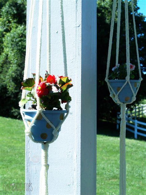 make your own hanging planter diy polkadot hanging planters