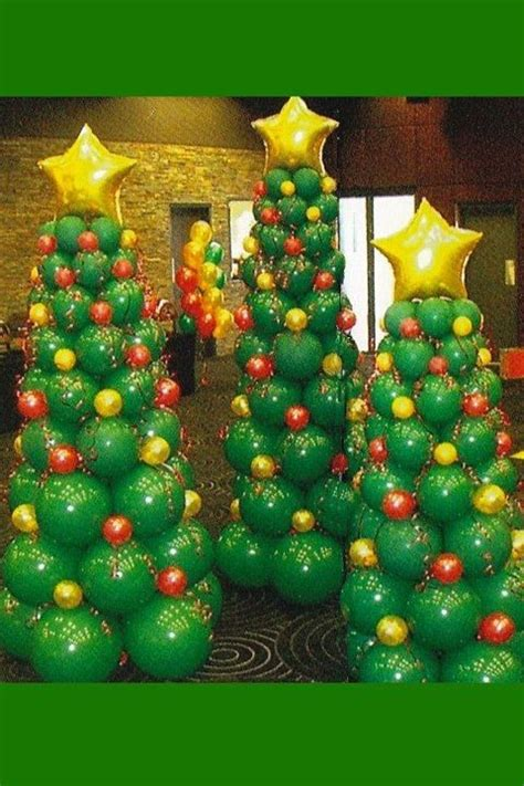 christmas trees made of balloons holidays christmas