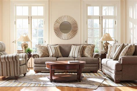 traditional loveseat with comfort cushions and two