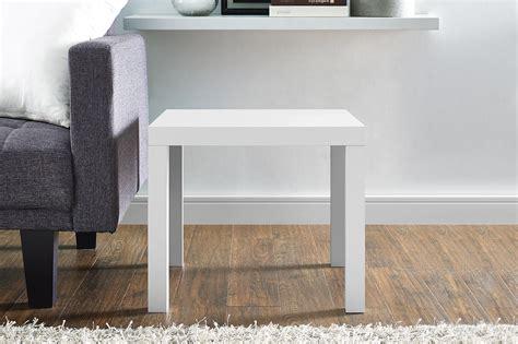 parsons end table white parsons end table white dhp furniture