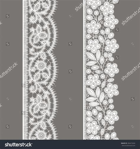 seamless ribbon pattern white lace vertical ribbon floral seamless stock vector