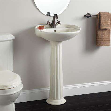 What Is A Pedestal Sink Signature Hardware Porcelain Mini Pedestal Sink