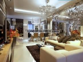 Most Expensive Chandelier Modern Luxury Living Room Design 3d Model Download Free 3d