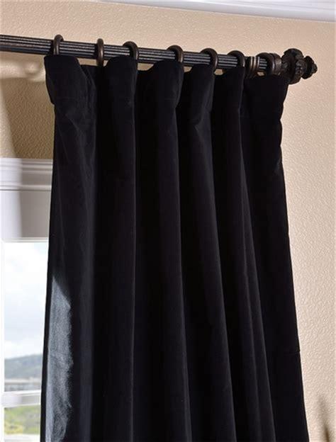 black velvet drapes buy ebony black vintage cotton velvet curtain drapes