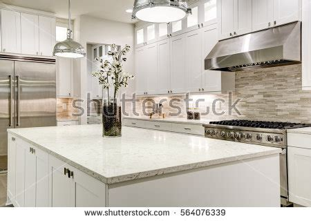 marble subway tile kitchen backsplash with feature time countertop stock images royalty free images vectors