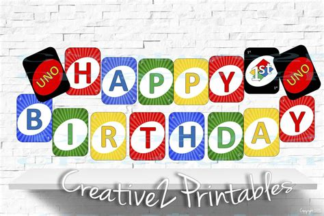 printable uno card template printable uno card cards happy 1st birthday by