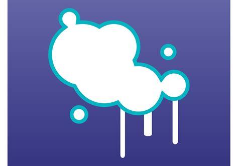 graffiti bubbles   vector art stock