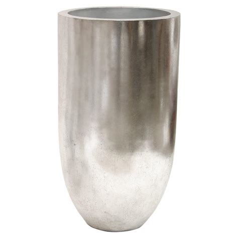 Silver Planter Leith Modern Classic Silver Leaf Decorative Planter