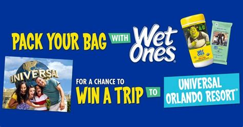 Universal Studios Orlando Sweepstakes - wet ones getaway win a trip to universal orlando resort