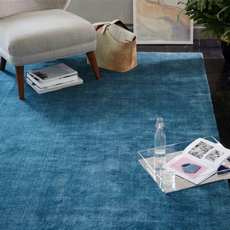 west elm blue rug transitional decor keep summer alive throughout the fall