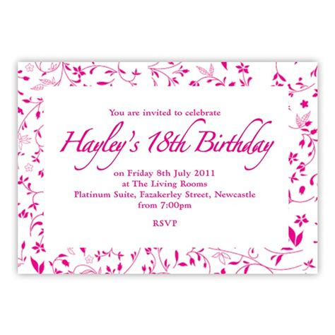 18th invitation templates 18th birthday invitation birthdays