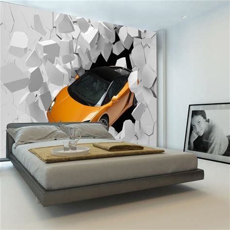 sports bedroom wallpaper 3d sports car photo wallpaper giant wall mural unique