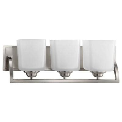 Hton Bay Bathroom Lighting Hton Bay Cankton 3 Light Brushed Nickel Bath Vanity Light 19060 001 The Home Depot