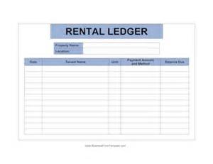 apartment manager ledger template