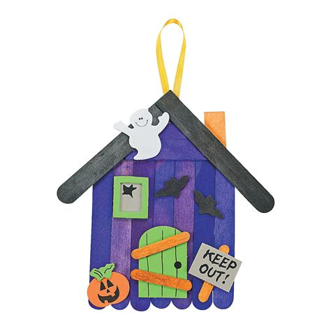 trading crafts craft stick haunted house banner craft kit