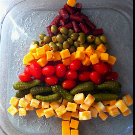 christmas tree relish tray appetizer tray tree this is awesome tree