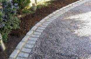 gravel driveway withlandscape timber border yahoo search
