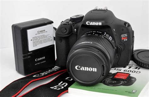 Kamera Dslr Canon Eos 600d Kit Lensa 18 55mm Is note the above is a sle photo the actual photos of