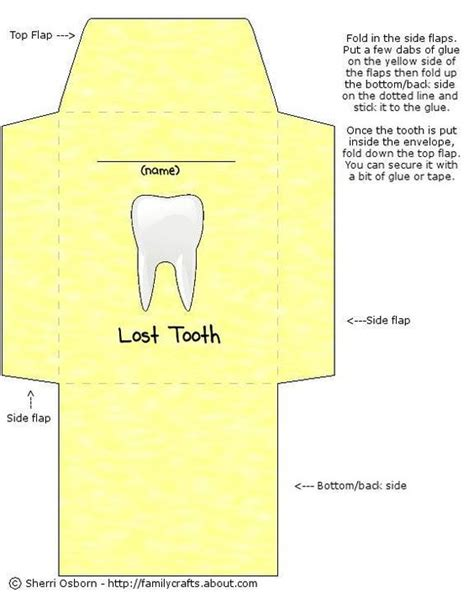 tooth templates free free printable envelope template lost dental care and